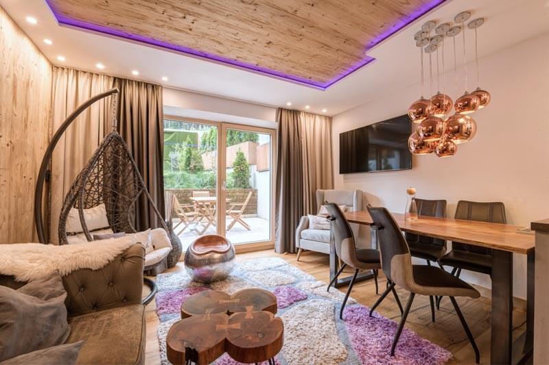 Wohnraum Appartement Alpenherz