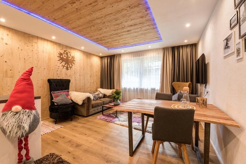 Wohnraum Appartement Edelweiss